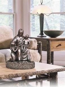 Jesus with Children Bronze Cremation Urn