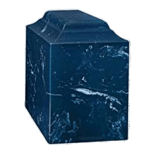 Atrina Navy Marble Cremation Urn