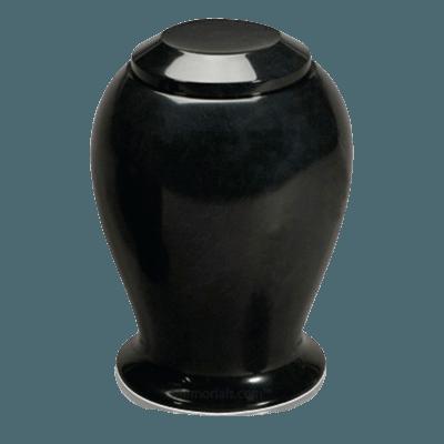 Black Night Marble Cremation Urn