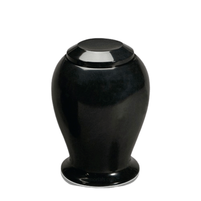 Black Night Medium Marble Cremation Urn