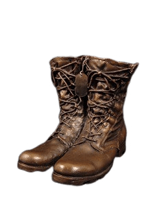 Military Boots Cremation Urn