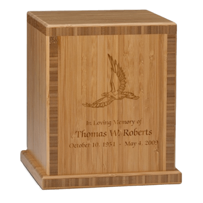 Eagle Bamboo Caramel Cremation Urn