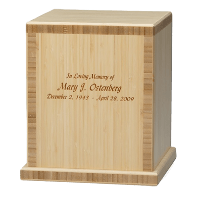 Bamboo Natural Green Cremation Urns