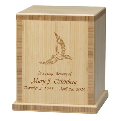 Eagle Bamboo Natural Cremation Urn