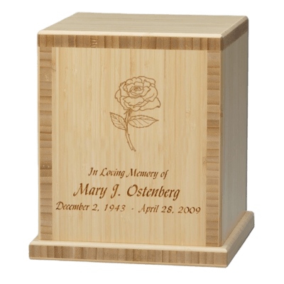 Rose Bamboo Natural Cremation Urn