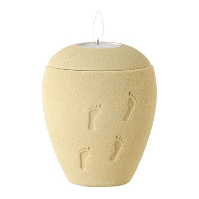 Barefoot Sand Tea Light Keepsake Urn