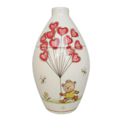 Bear With Balloons Ceramic Cremation Urns