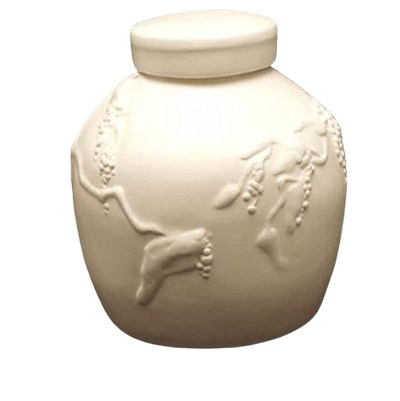 Embossed Biodegradable Urn