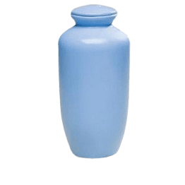 Blue Biodegradable Cremation Urn