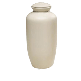 White Biodegradable Cremation Urn