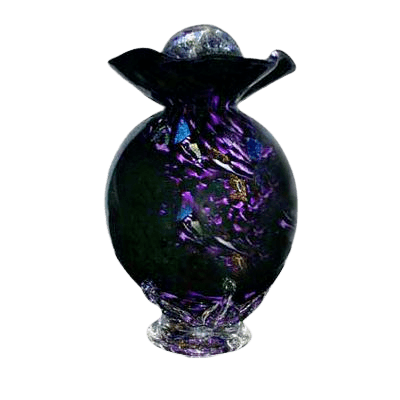 Black Fantasy Glass Cremation Urn