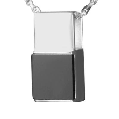 Black Onyx Square Cremation Pendant