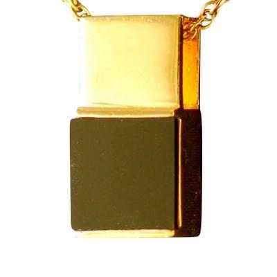 Black Onyx Square Cremation Pendant IV