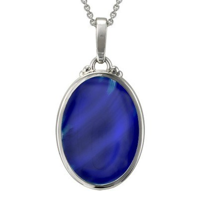 Blue Onyx Infinity Cremation Pendant