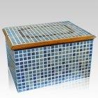 Blue Mosaic Ceramic Urn