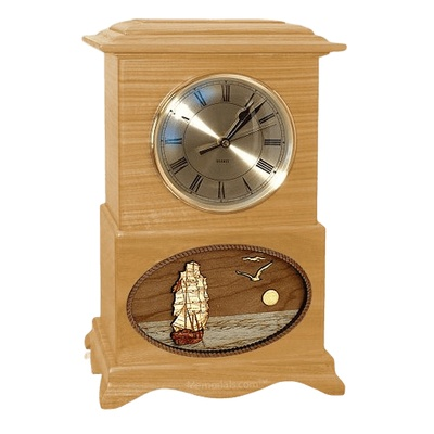 Boat Clock Oak Cremation Urn