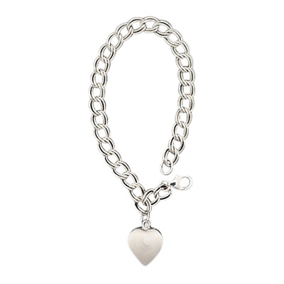 Double Link Curb Cremation Bracelet