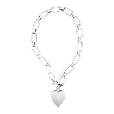 Rectangular Link Cremation Bracelet
