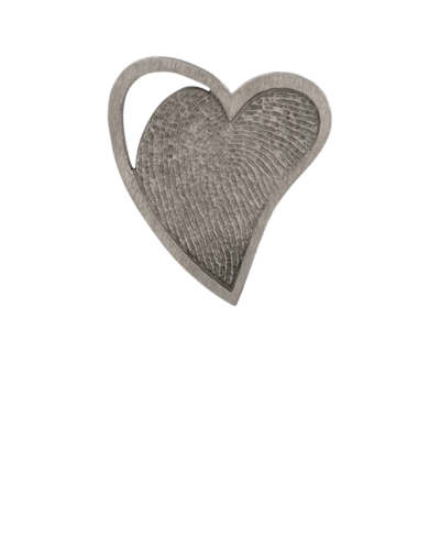 Heart Bronze Fingerprint Keeepsake