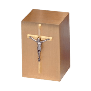 Crucifix Cross Large Infant Cremation Urn