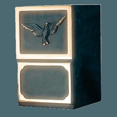 Artisan Dove Bronze Cremation Urn