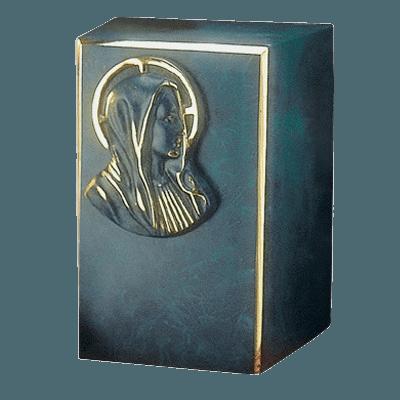 Artisan Mary Bronze Cremation Urn