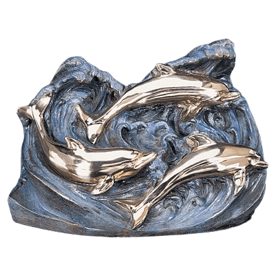 Eternal Dolphins Bronze Cremation Urn