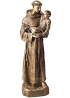 Saint Anthony Small Bronze Statues