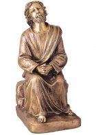 Jesus Prayer Bronze Statues