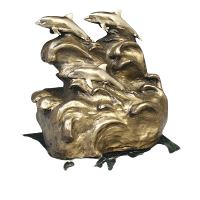 Peaceful Sea Dolphin Cremation Urn