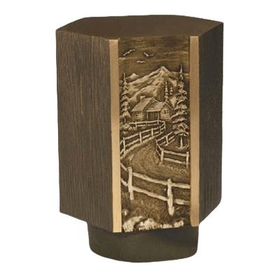 Cottage Road Bronze Cremation Urn