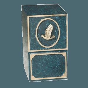 Dove Medallion Bronze Cremation Urn II
