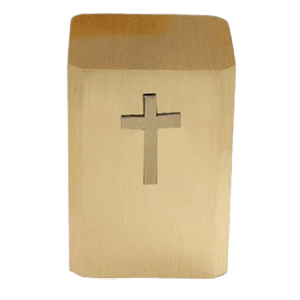 Latin Cross Bronze Cremation Urn