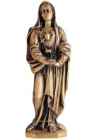Corazon De Maria Wall Bronze Statues