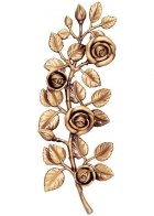 Rose Branch Wall Bronze Statues