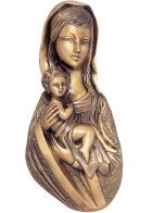 Mother with Child Wall Bronze Statues