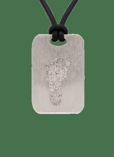 Bronze Footprint Keepsake Pendant