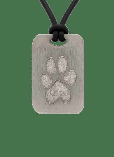 Bronze Pawprint Keepsake Pendant