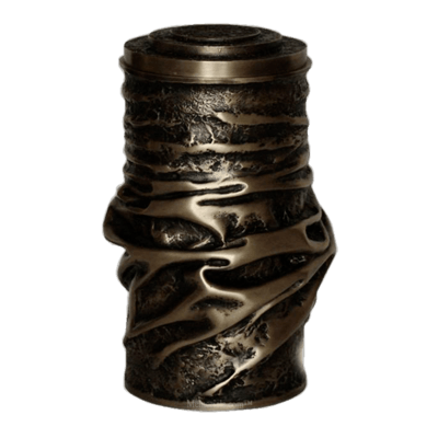 Modern Brown Patina Funeral Urn