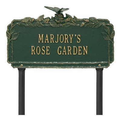 Butterfly Rose Green Dedication Plaque