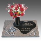 Butterfly Children Bronze Grave Marker
