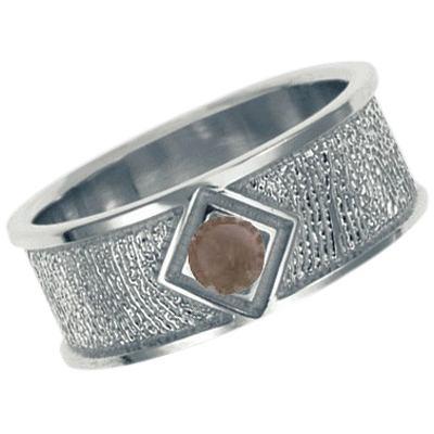 Topaz Sterling Silver Ring Print Keepsake