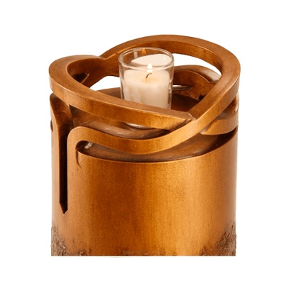 Infinity Wood Jewish Star Cremation Urn