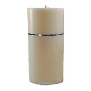 Chrome Band Large Candle Urn