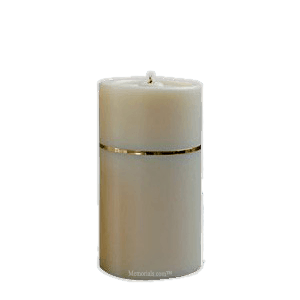 Gold Band Candle Cremation Urn
