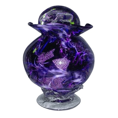 Diochroic Purple Funeral Urn For Two