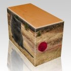 Hunting Ground Pet Picture Oak Urns