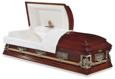 Cathedral Wood Casket