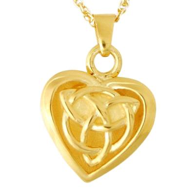 Celtic Heart Keepsake Pendant IV