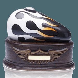 Black Motorcycle Cremation Urn